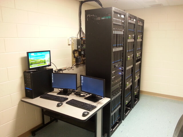 Business server room setup